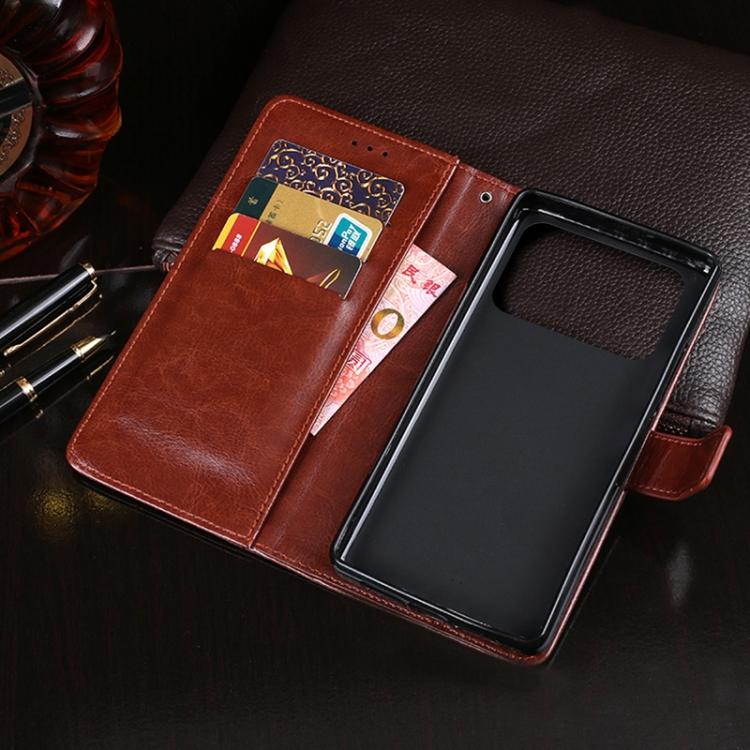 Чехол-книжка idewei Crazy Horse Texture для Xiaomi Mi 11 Ultra