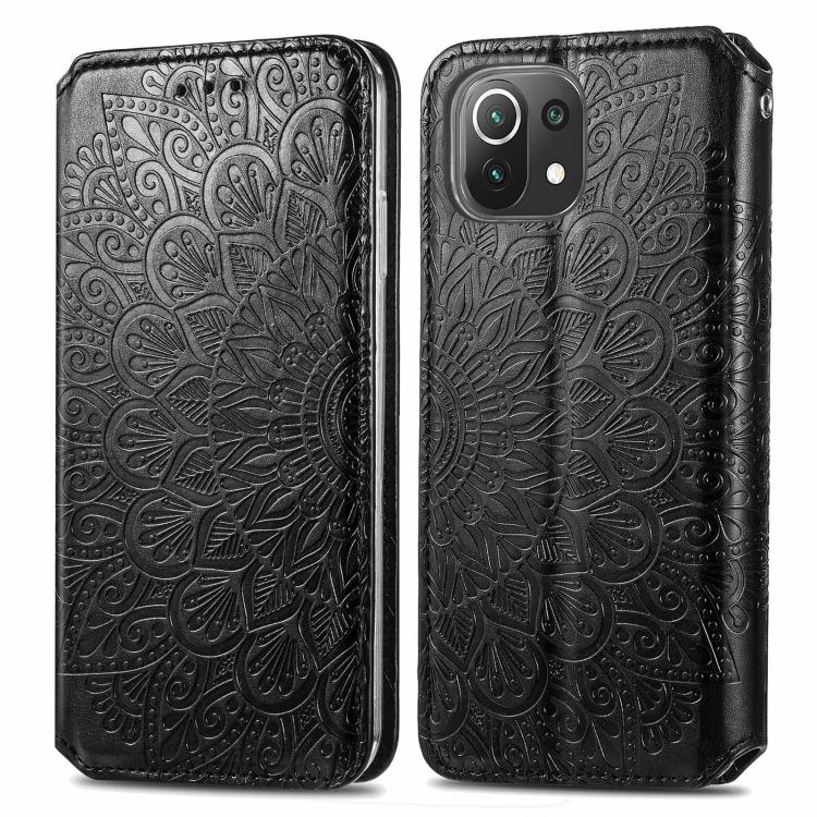 Чехол-книжка Blooming Mandala для Xiaomi Mi 11 Lite - черный