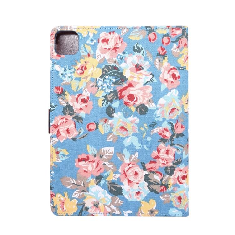 Чехол-книжка Flower Cloth Texture на iPad Air 10.9 2020 - синий
