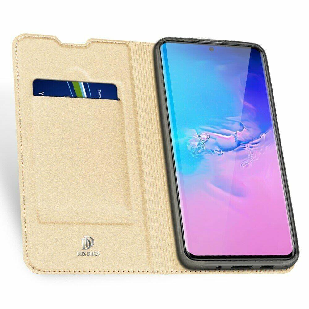 Золотой чехол-книжка DUCIS  для Samsung Galaxy S20 Ultra