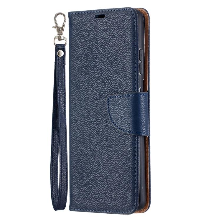 Синий чехол-книжка Color Texture на Samsung Galaxy S21 Ultra