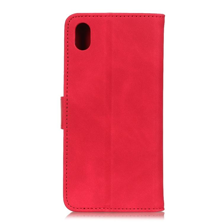 Чехол-книжка KHAZNEH Retro Texture на Samsung Galaxy A01 Core / M01 Core - красный