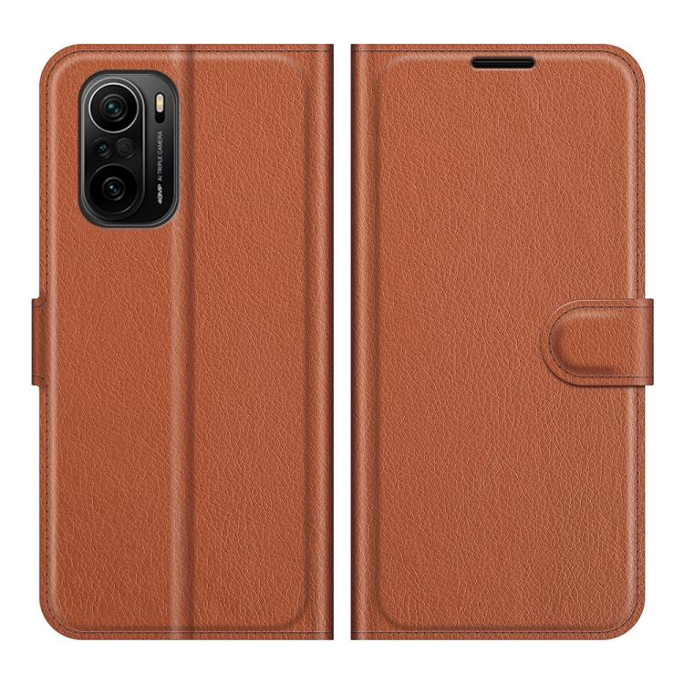 Чехол-книжка коричневого цвета для Xiaomi Mi 11i/Poco F3/Redmi K40/K40 Pro