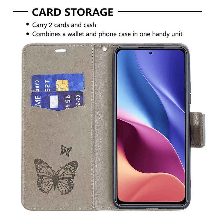 Чехол-книжка Butterflies  на Redmi K40/Xiaomi Mi 11i/Xiaomi Poco F3/K40 Pro