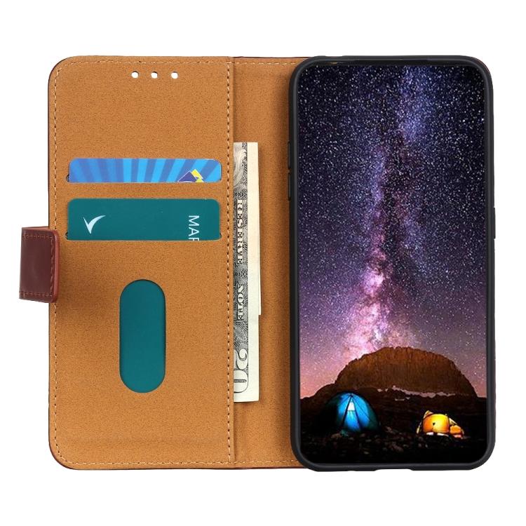 Чехол-книжка 3-Color Pearl на Галакси S21 FE - коричневый