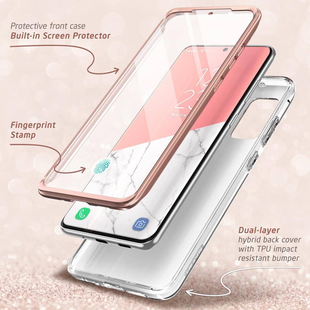 Двусторонний стеклянный чехол-накладка на Samsung Galaxy S20 fe