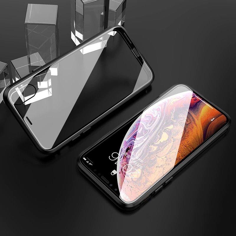 Ударостойкий магнитный чехол-книжка для Айфон 11
