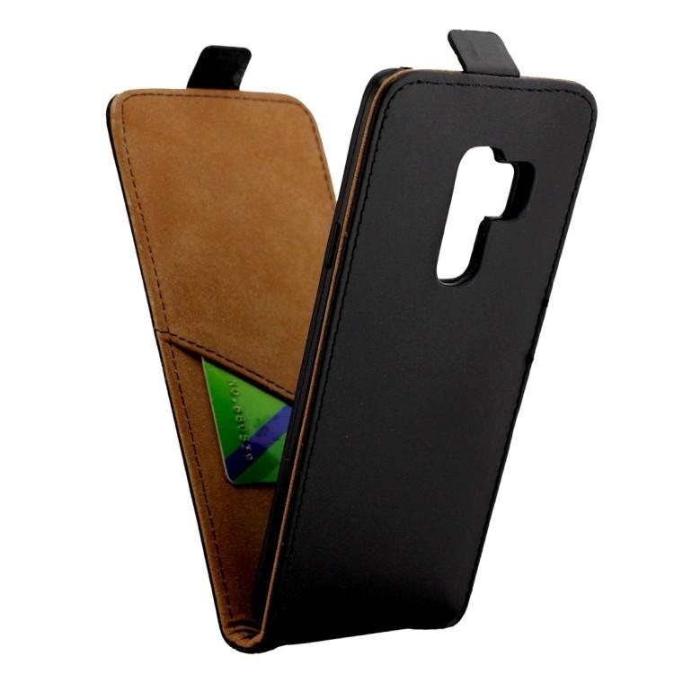 Кожаный флип-чехол Business Style на Samsung Galaxy S9 -черный