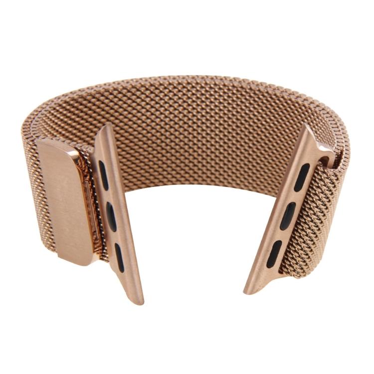Браслет из нержавеющей стали Milanese Loop Magnetic для Apple Watch 42/44mm - розовое золото