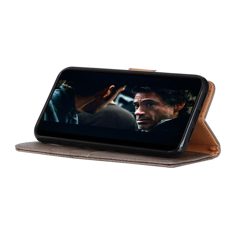 Серый чехол-книжка подставка на Samsung Galaxy A02