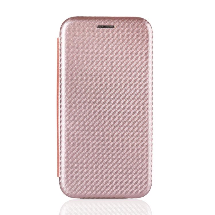 Чехол-книжка Carbon Fiber Texture на Xiaomi Mi 10T Lite - розовый