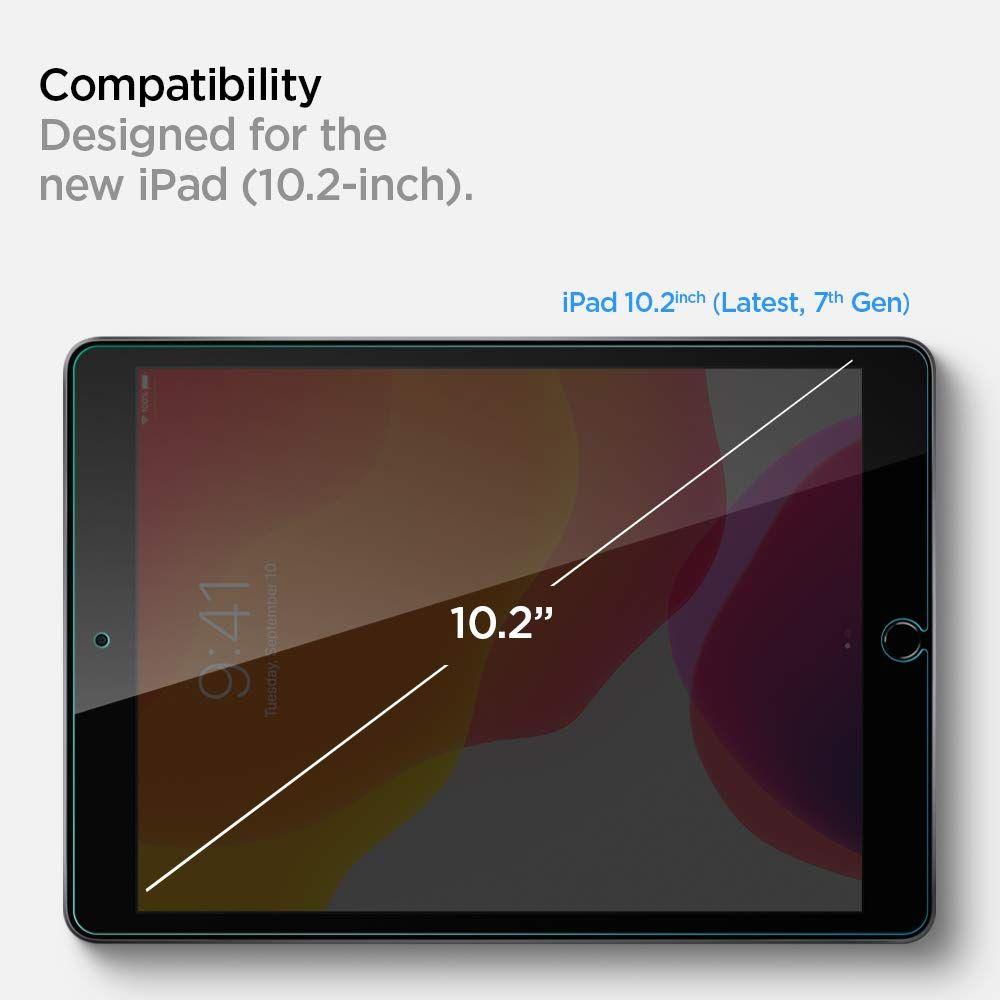 Защитное каленое стекло Spigen Glas.Tr Slim для iPad 10.2 2019