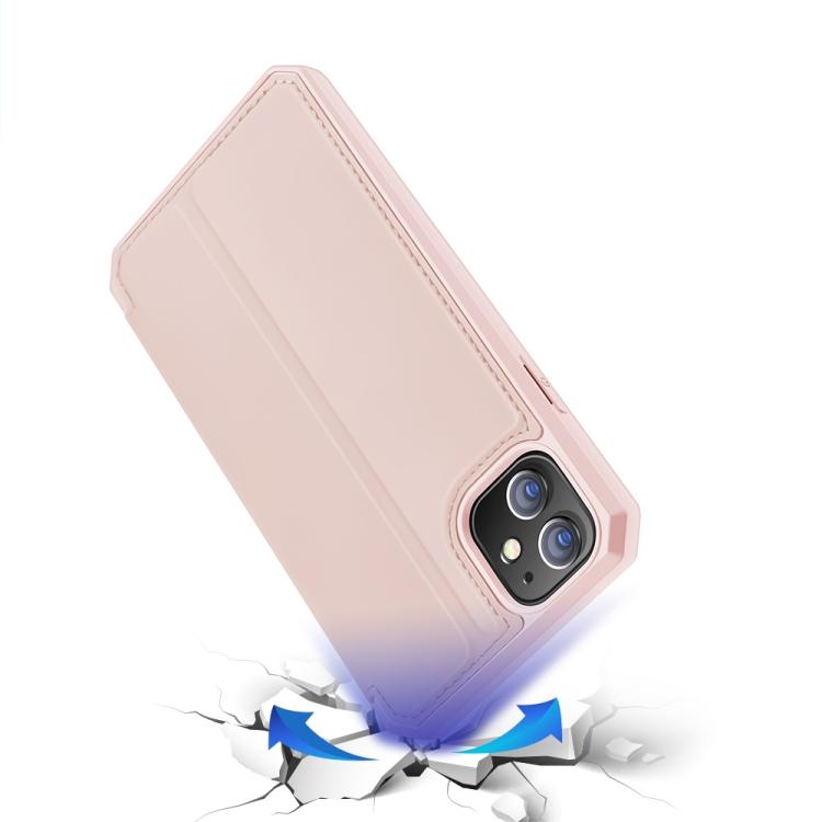 Чехол-книжка DUX DUCIS Skin X Series на iPhone 12/12 Pro - розовый