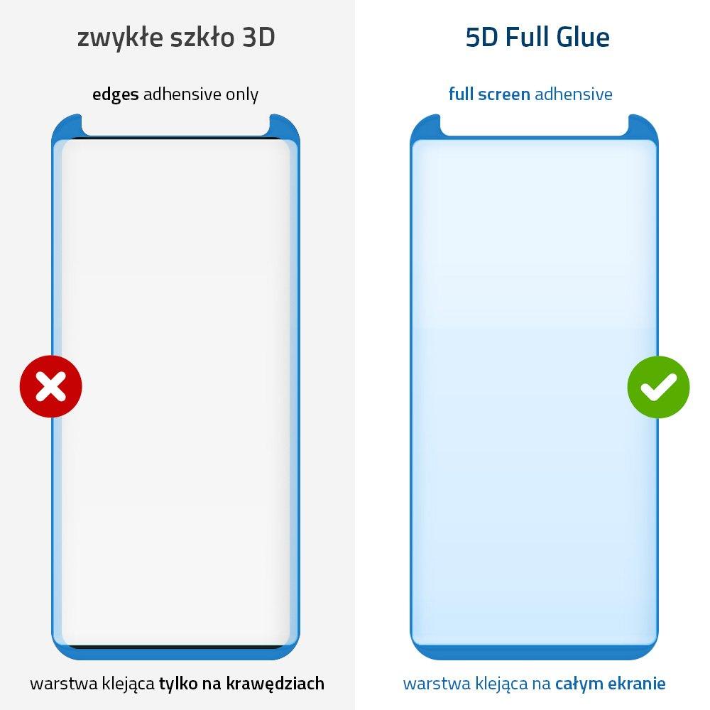 5D Защитное стекло Wozinsky клейкое всей поверхностью на Samsung Galaxy S9 / G960 - черное