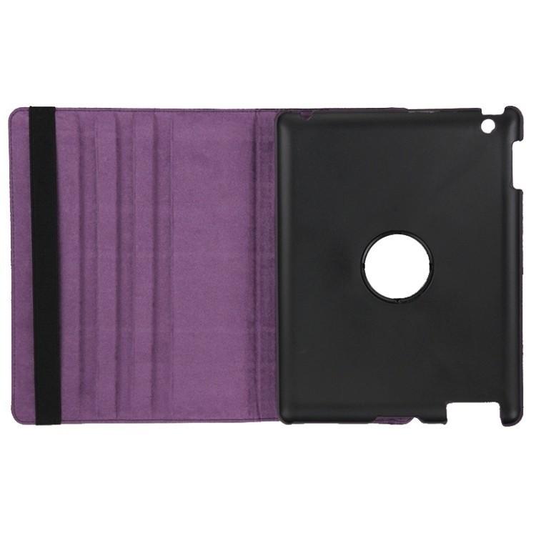 Чехол 360 Degree Rotatable Sleep / Wake-up фиолетовый для Айпад 4/ 3/ 2