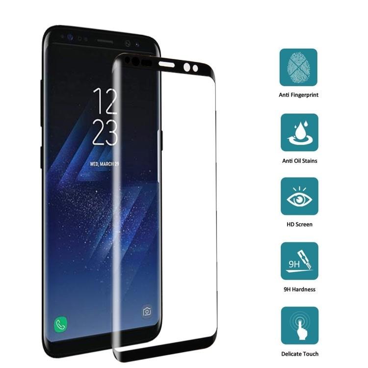 3D Защитное Стекло Enkay Клейкое во Всей Поверхности Full Glue Full Screen Черное для Samsung Galaxy S8 / G950 0.26mm 9H