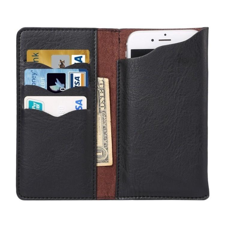 Кожаный универсальный чехол на iPhone 6/6s 4.3 - 4.8 Inch Universal Elephant Texture Carry(Black)