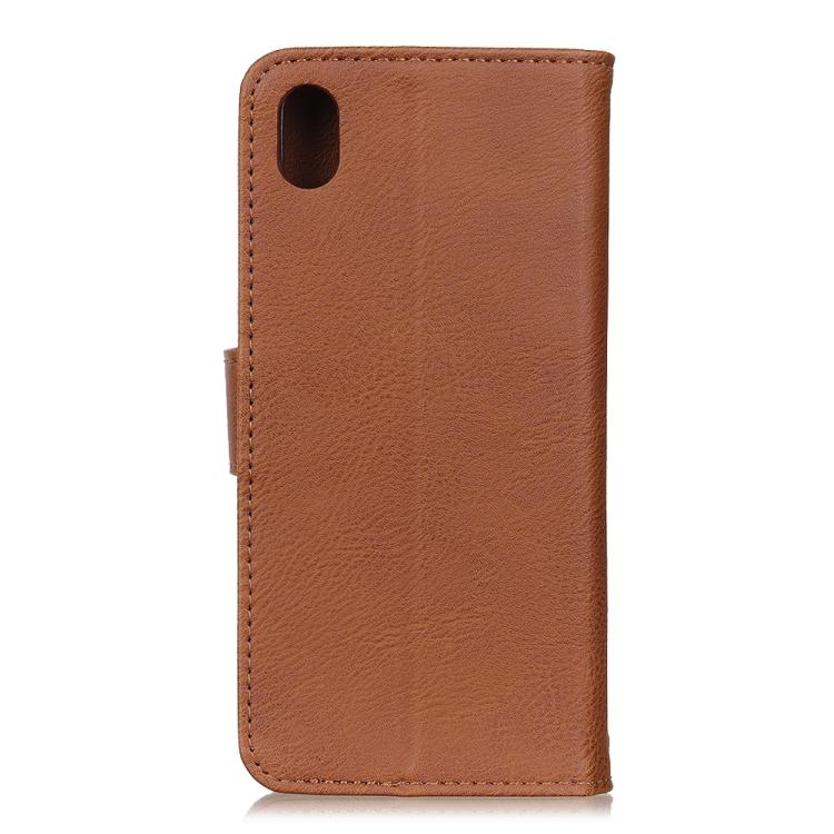 Чехол-книжка KHAZNEH Cowhide Texture на Samsung Galaxy A01 Core / M01 Core - коричневый