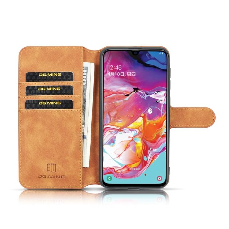 Чехол-книжка DG.MING Retro Oil Side  для Samsung Galaxy A10-коричневый