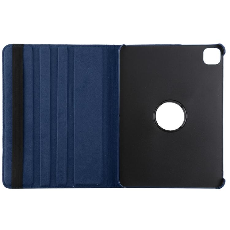 Чехол-книжка с вырезом под логотип для Айпад Про 12.9 синего цвета