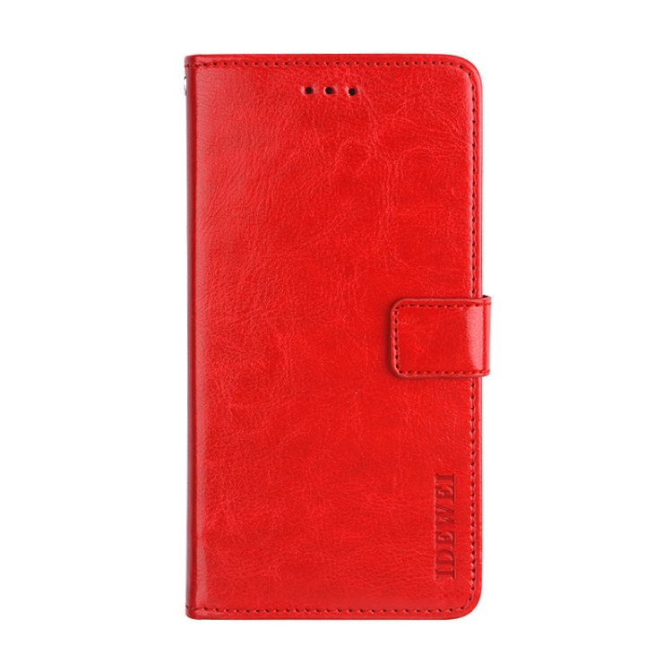 Красный чехол-книжка idewei Crazy на Xiaomi Mi 11 Ultra