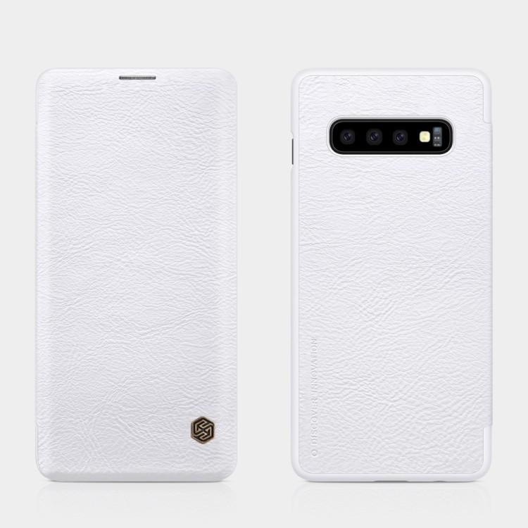 Чехол- книжка NILLKIN QIN Series на Samsung Galaxy S10-белый