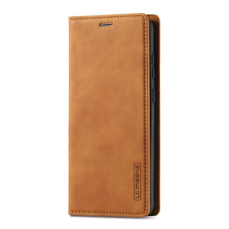 Чехол-книжка LC.IMEEKE на Samsung Galaxy S20 FE - коричневый