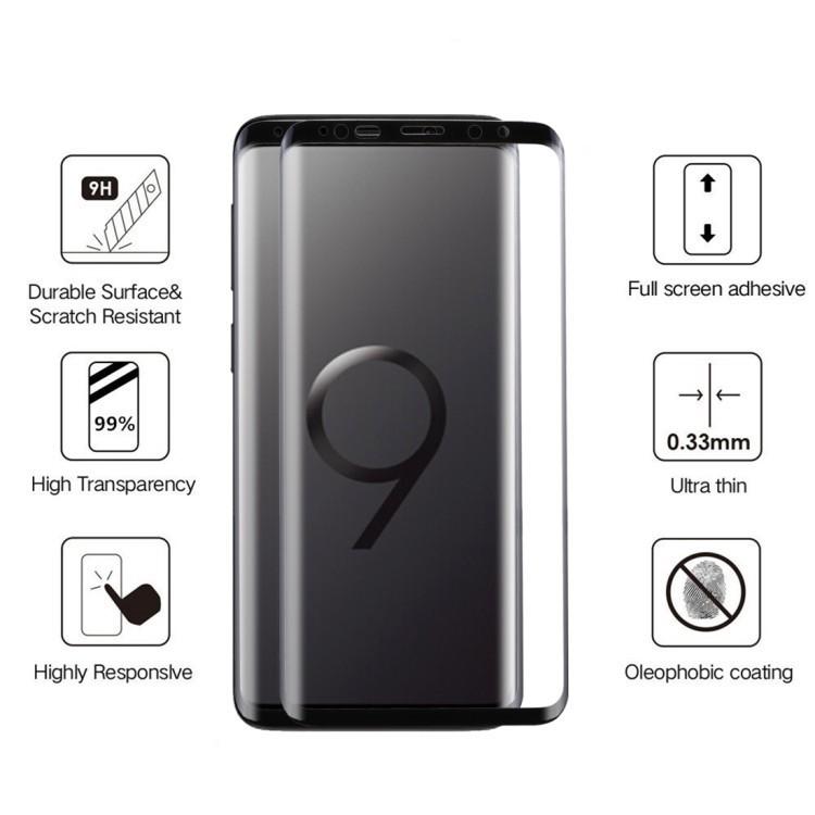 Защитное стекло на Samsung Galaxy S9 черное