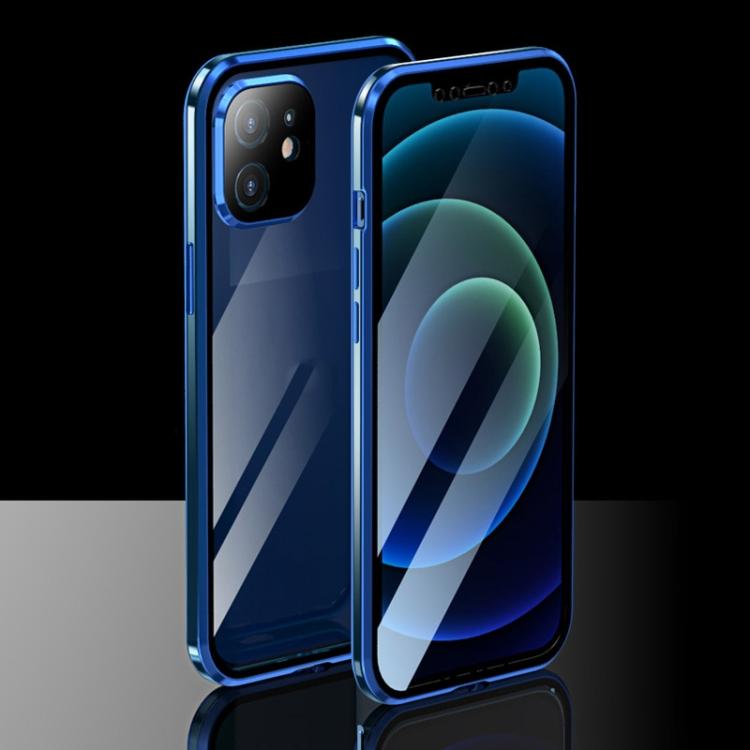 Ударостойкий магнитный синий чехол для Айфон 12 Мини