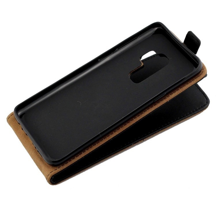 Кожаный флип-чехол Business Style на Самсунг С9 -черный