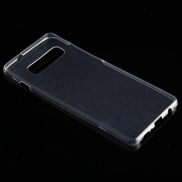 Двусторонний ультратонкий силиконовый чехол на Самсунг S10 Plus - прозрачный