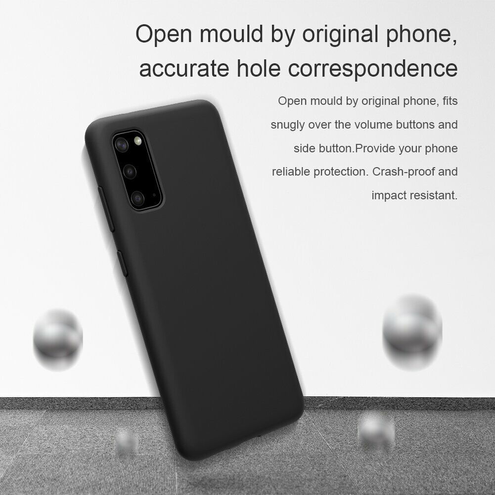 Силиконовый чехол-накладка на Samsung Galaxy S20