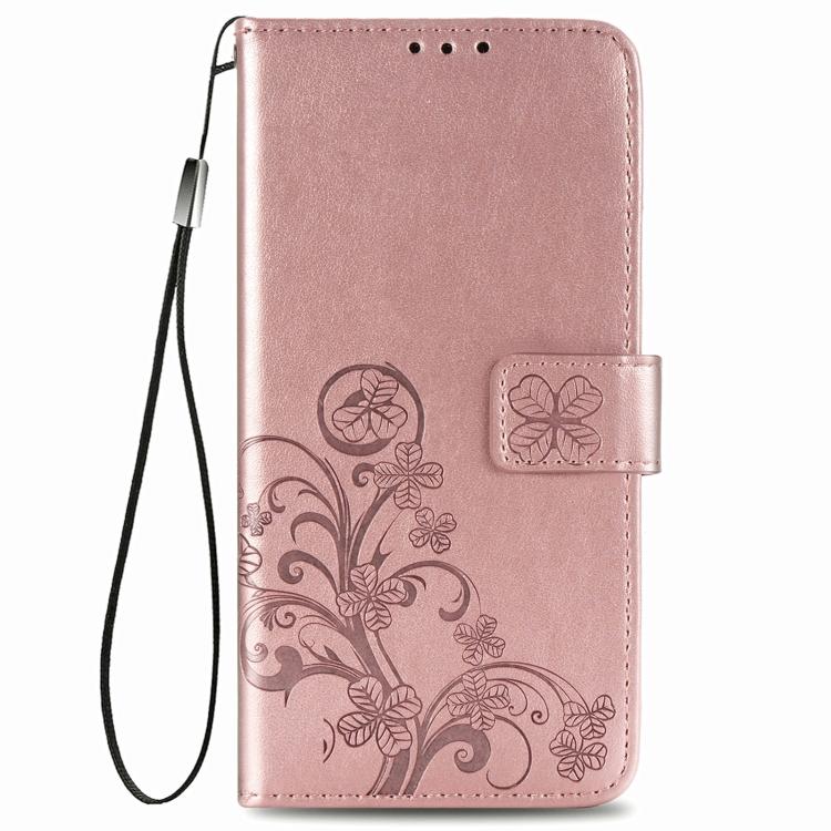 Чехол-книжка розового цвета Four-leaf  на Samsung Galaxy A12/M12