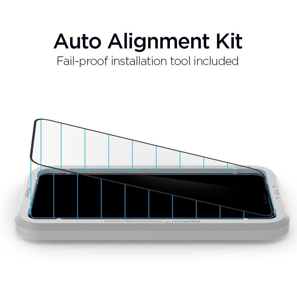 Защитное каленое стекло с черной рамкой на Айфон 11 Про