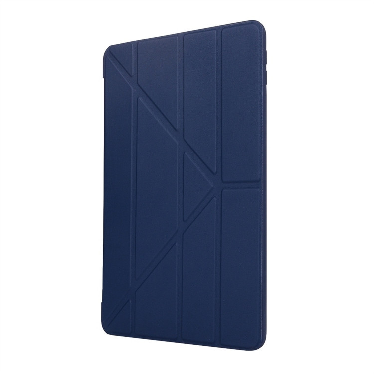 Чехол- книжка Solid Color Trid-fold Deformation Stand на iPad 8/7 10.2 (2019/2020) -синий