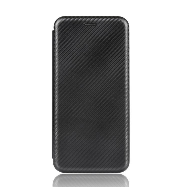 Чехол-книжка Carbon Fiber Texture на Xiaomi Poco X3 / Poco X3 Pro - черный