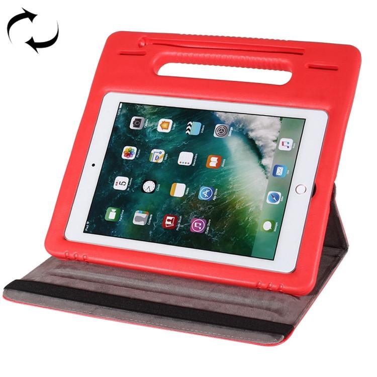 Противоударный чехол 360 Degree EVA Bumper Sleep / Wake-up с ручкой на iPad 7 10.2/ Air 2019/Pro 10.5 -красный