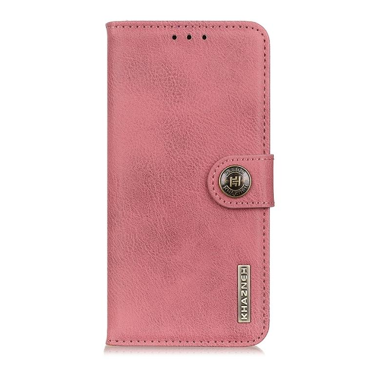 Чехол-книжка KHAZNEH Cowhide Texture на Samsung Galaxy Note 20 Ultra - розовый