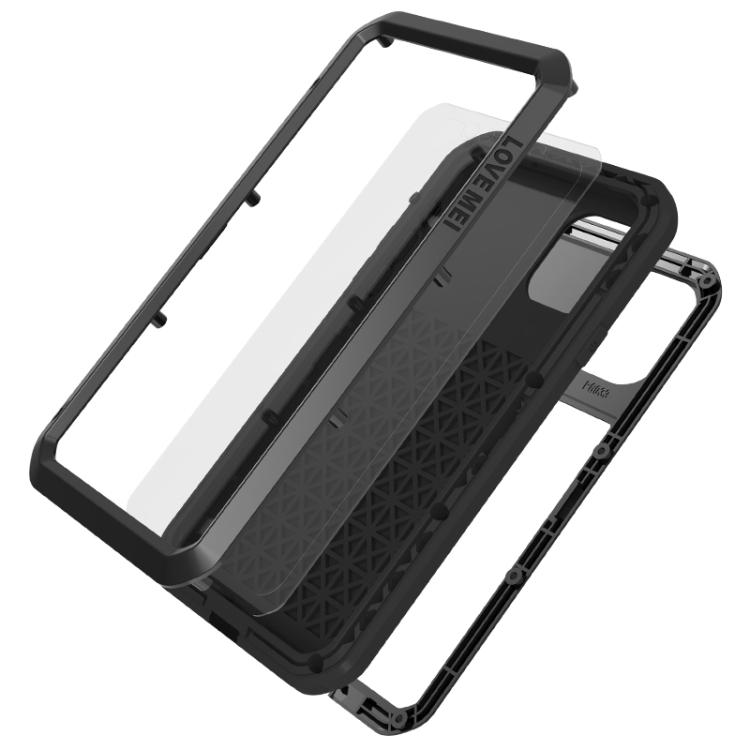 Противоударный чехол накладка черного цвета для Айфон 11 Про