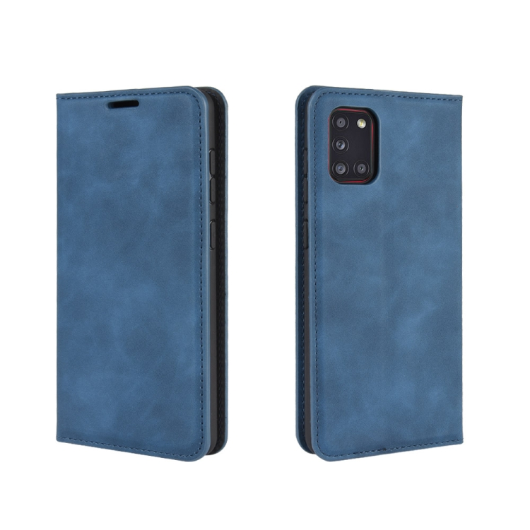 Чехол- книжка Retro Skin Feel Business Magnetic на Samsungr Galaxy A31 - синий