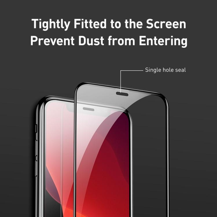 3d защитные стекла 2 ед.-PCS Baseus  Anti Blue-ray на  iPhone 11 Pro/X/Xs-черные