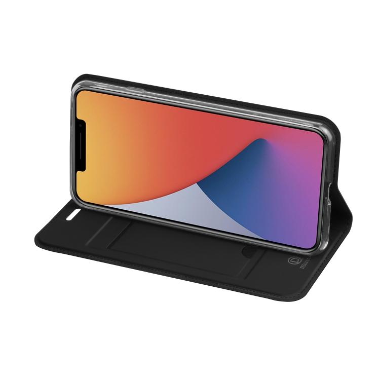 Черный чехол-книжка со слотом для Айфон 12 Про Макс