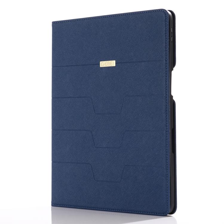 Синий кожаный чехол-книжка для Айпад Про 11