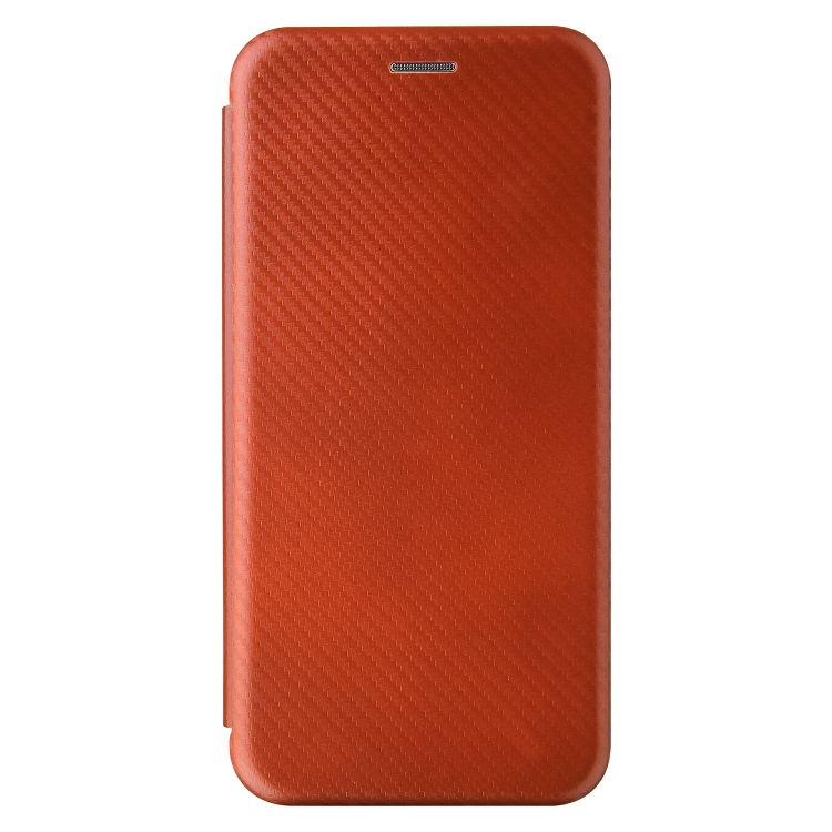 Чехол-книжка Carbon Fiber Texture на Samsung Galaxy A02 / M02 - коричневый