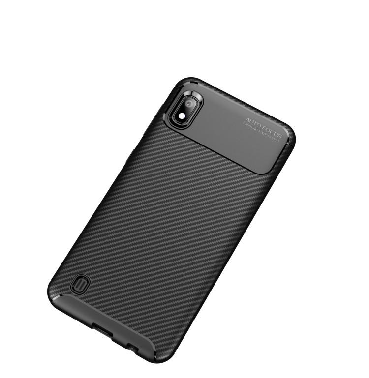 Карбоновый чехол Beetle Series на Samsung Galaxy A10- черный