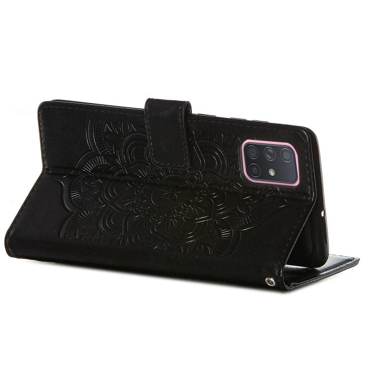 Чехол-книжка с узором хранитель снов черного цвета для Самсунг Гелекси А71