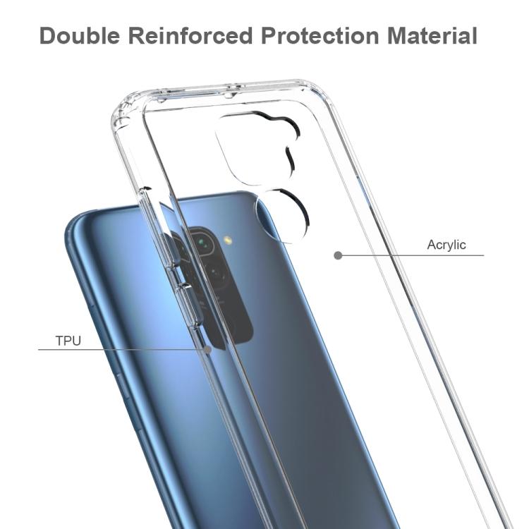 Прозрачный силиконовый чехол накладка для Сяоми Редми Нот 9