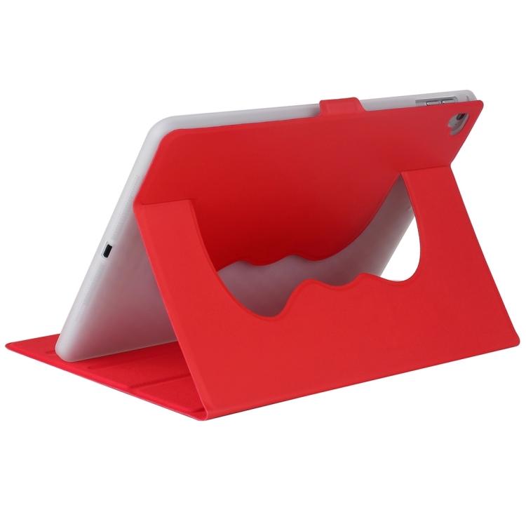 Красный кожаный чехол-книжка с складной подставкой на Айпад Аир 2