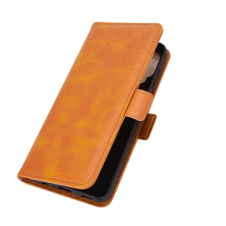 Оранжевый чехол-книжка Dual-side на Самсунг Галакси A12