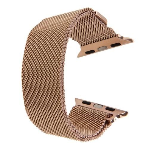 Браслет из нержавеющей стали Milanese Loop Magnetic для Apple Watch 38/40mm - розовое золото